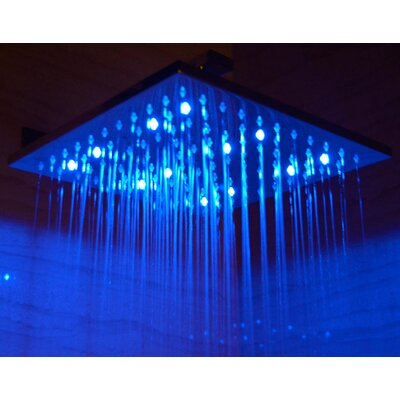 "Alfi Brand 12"" Square LED Rain Shower Head"