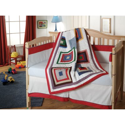 American Mills Stacked Blocks Quilted Crib Bedding Set