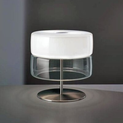 "Leucos Bisquit T 13.75"" H Table Lamp with Drum Shade"