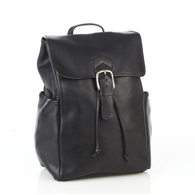 Premium Leather Backpack with Side Pockets