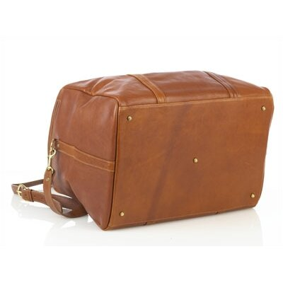 "Aston Leather 16"" Leather Travel Duffel"