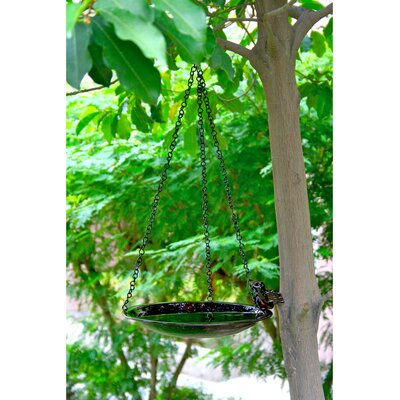 "Unique Arts 18"" Hanging Birdbath"