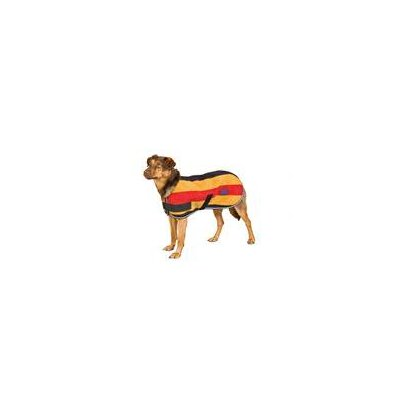 Weatherbeeta USA Pet Sandown Fleece Dog Blanket Jacket in Gold, Red and Black