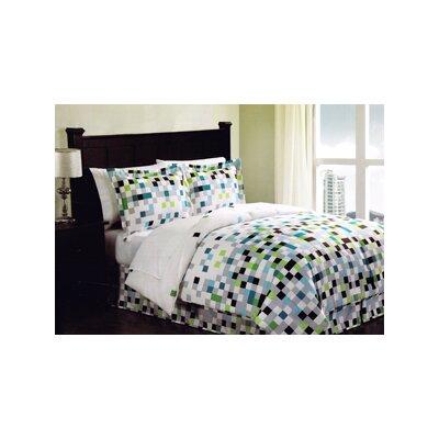 Top 28 pixel comforter set pixel percale euro sham cstudio home pem america pixel bed - Green pixel bedding ...