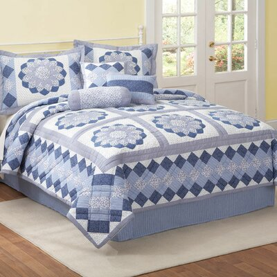 American Traditions Hildy Blue Quilt Set