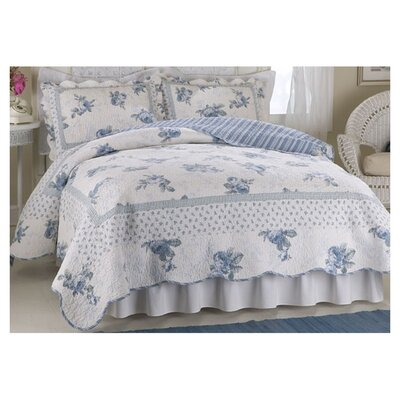 American Traditions Rose Blossom Queen Quilt