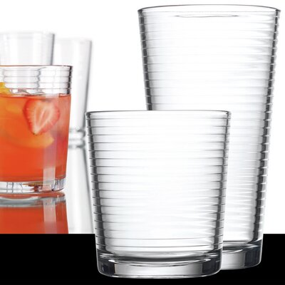 16 Piece Solar Drink Glass Set