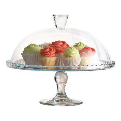 Home Essentials Sweet Cake Plate with Dome