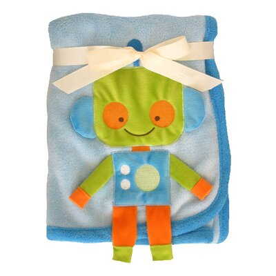 3D Robot Crib Throw Blanket