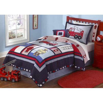 My World Fireman 2 Piece Twin Quilt Set