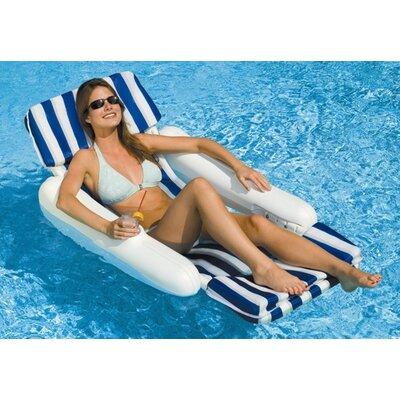 Swimline SunChaser Padded Floating Luxury Lounger Chair