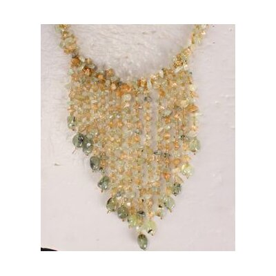Amour Light Green Agate Chips Necklace with Multi-Strand
