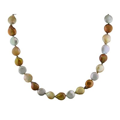 Amour Coin Cultured Pearl Endless Necklace