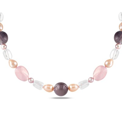 Amour Multi-Gemstone and Pearl Necklace
