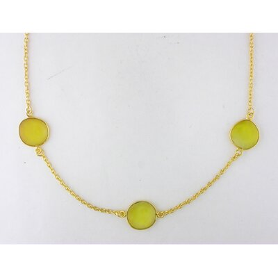 Amour Irregular Shape Double Checkerboard Onyx Necklace in Yellow