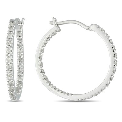 Amour Quarter Carat White Diamonds and Hoop Earrings