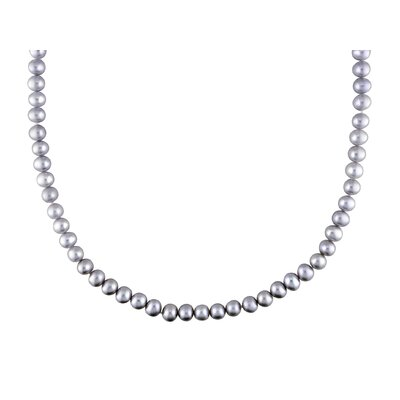 Freshwater Cultured Pearl and Grey Potato Cultured Pearl Necklace