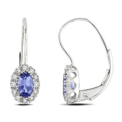 Oval Cut Tanzanite Stud Earrings