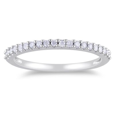 White Gold Round Cut Diamond Eternity Ring