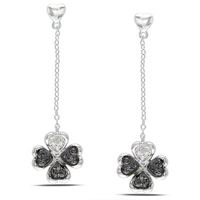 Heart Cut Diamond Drop Earrings