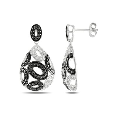 Amour Round Cut Diamond Drop Earrings