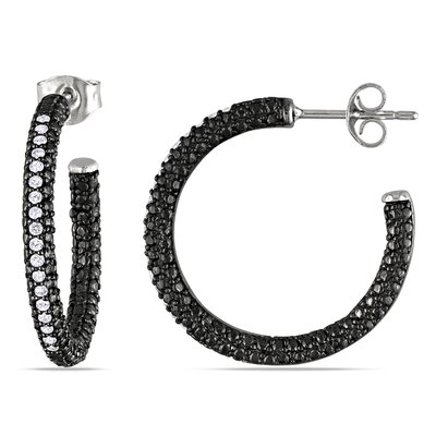 Amour Round Diamond Hoop Earrings