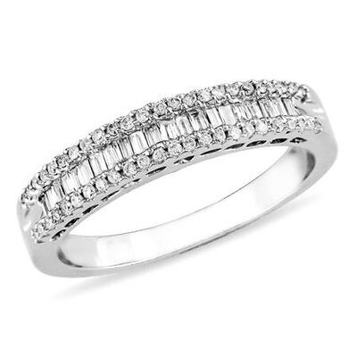 White Gold Parallel Baguette Cut Diamond Eternity Ring