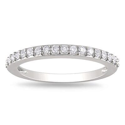 White Gold Round Cut Diamond Stacked Ring