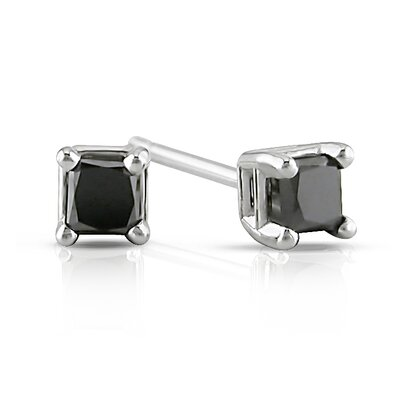 Princess Cut Diamond Solitaire Stud Earrings
