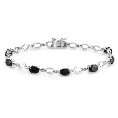 Amour Diamond and Sapphire Link Bracelet