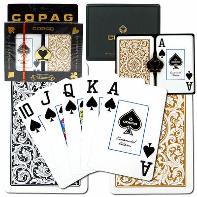 Copag Cards Bridge 1546 Design Index in Black and Gold