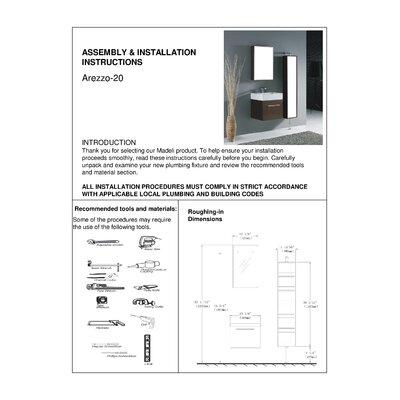"""Madeli Arezzo 20.06"""" Wall Mounted Bathroom Vanity Set"""
