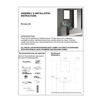 """Madeli Rimini 29"""" Bathroom Vanity Set"""