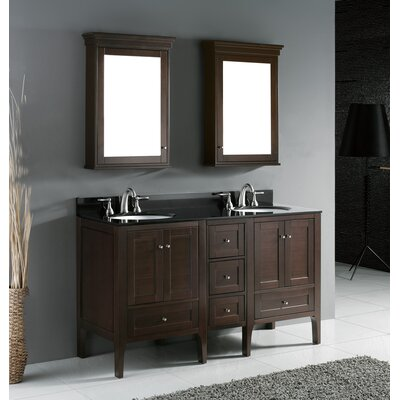 "Madeli Torino 60.25"" Double Bathroom Vanity Set"