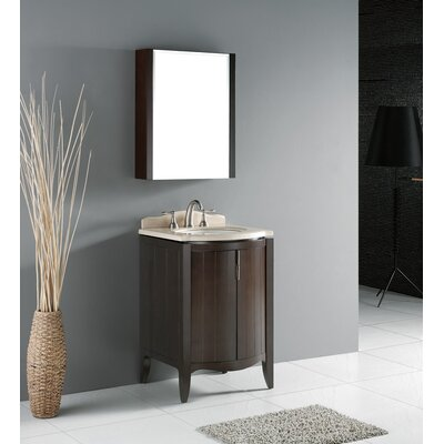 "Madeli Udine 24"" Bathroom Vanity Set in Walnut"