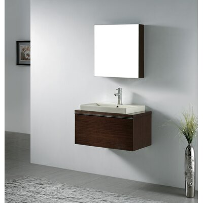 venasca 30 single wall mount bathroom vanity set with mirror
