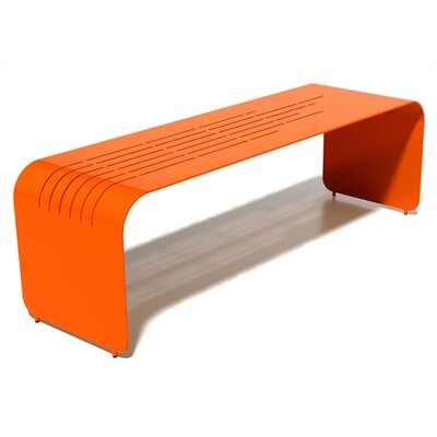 Orange22 Botanist Lines Aluminum Picnic Bench