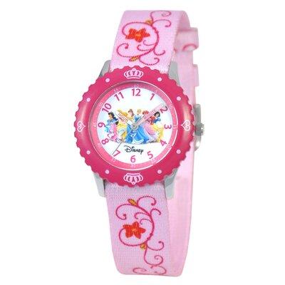 Kid's Princess Time Teacher Printed Strap Watch in Pink