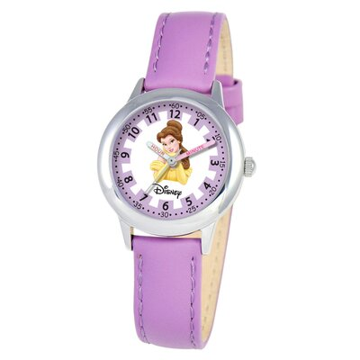 Disney Kid's Belle Time Teacher Watch in Purple