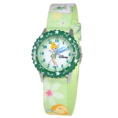 Disney Kid's Tinker Bell Time Teacher Watch in Green