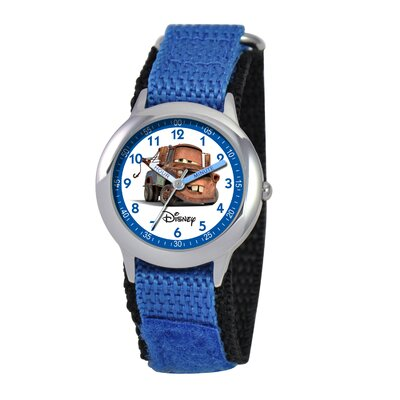 Kid's Cars Time Teacher Velcro Watch in Blue