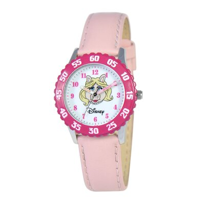 Disney Kid's Muppets Time Teacher Watch in Pink