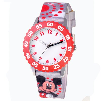 Disney Girl's Mickey Mouse Time Teacher Watch