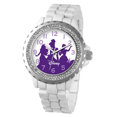 Disney Women's Princess Enamel Sparkle Bracelet Watch