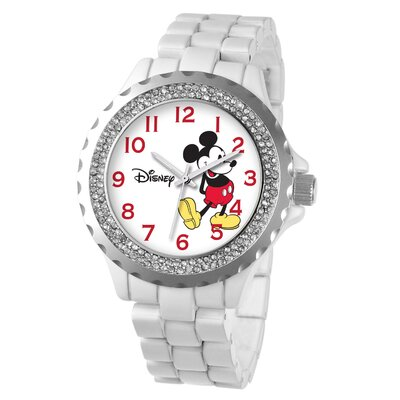 Women's Mickey Mouse Enamel Sparkle Bracelet Watch