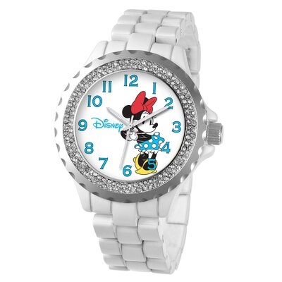 Disney Women's Minnie Mouse Enamel Sparkle Bracelet Watch