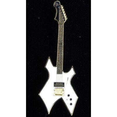 Harmony Jewelry BC Rich Warlock Electric Guitar in Gold and White