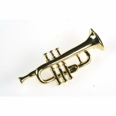 Noteables Trumpet Stick Pin in Gold