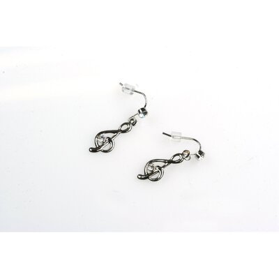Noteables G Clef Earrings in Delicate Silver