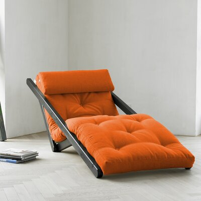 Fresh Futon Fresh Futon Figo with Wenge Frame in Orange